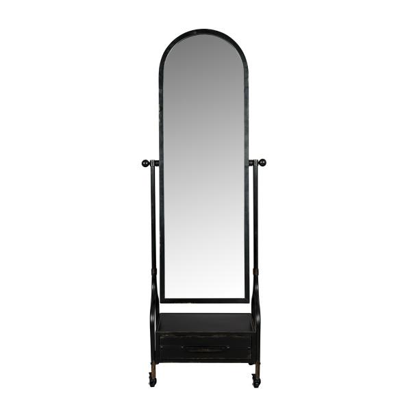 Verrijdbare spiegel met lade