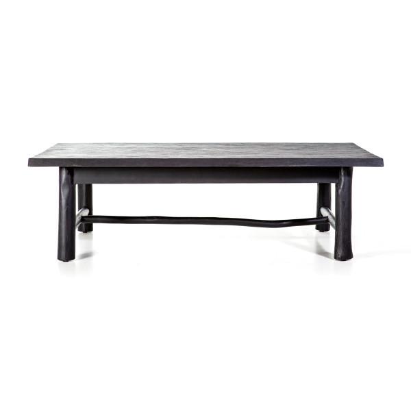 Salontafel zwart hout 130x70 cm