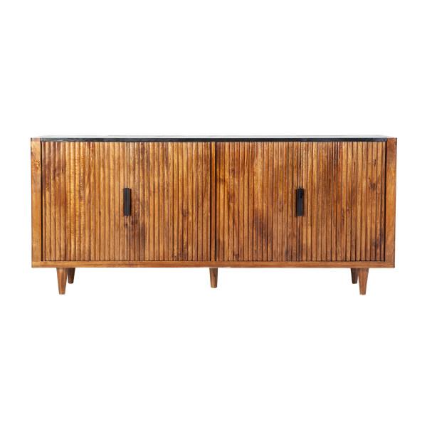 Retro dressoir mangohout 191 cm