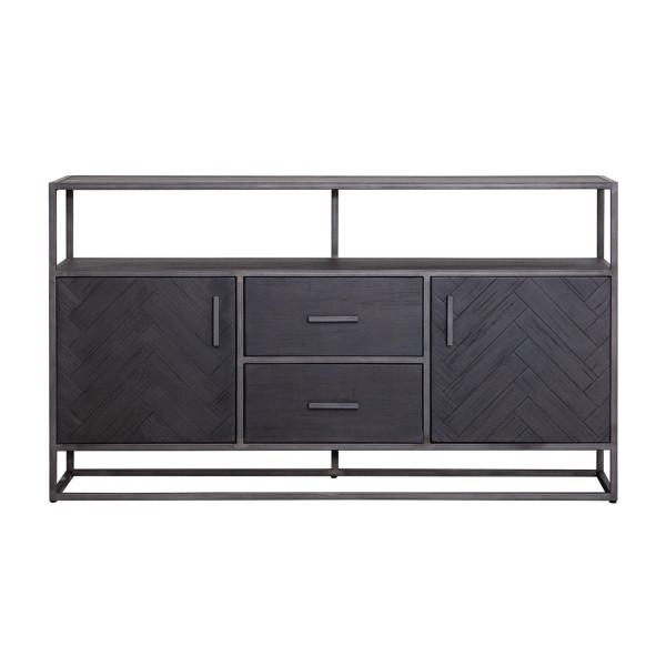 Zwart houten dressoir