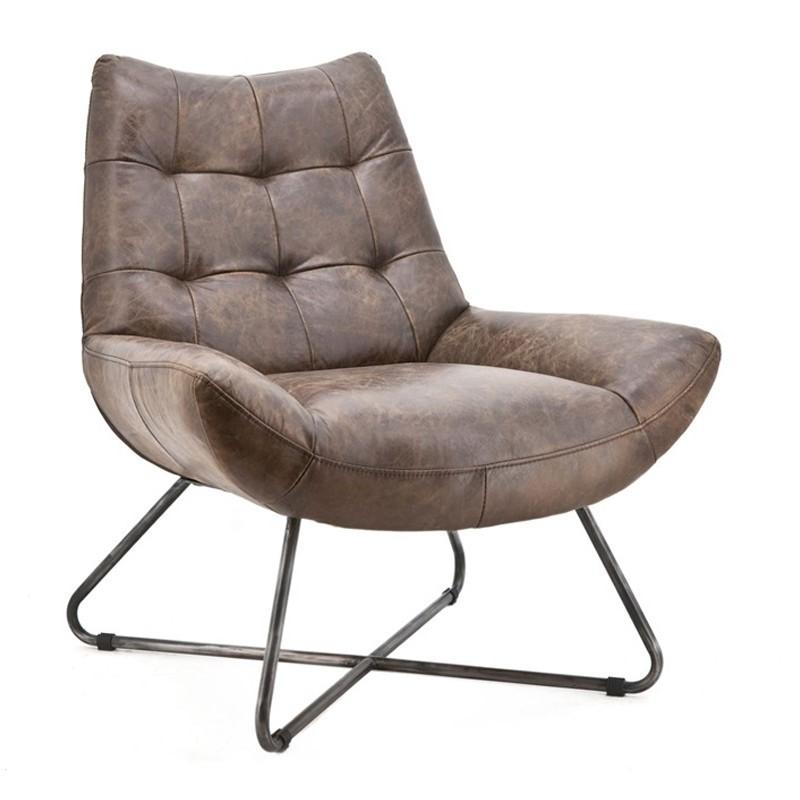 Houten Design Fauteuil.Eleonora Pedro Lederen Design Fauteuil 97705 Lumz