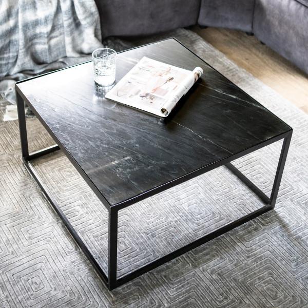 Vierkante marmeren salontafel