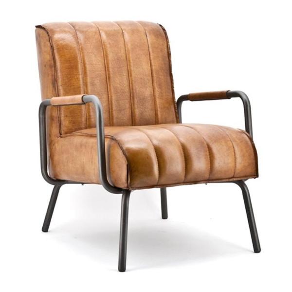 Lederen retro fauteuil