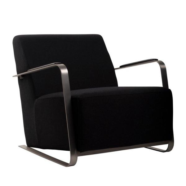 Fauteuil design zwart wol