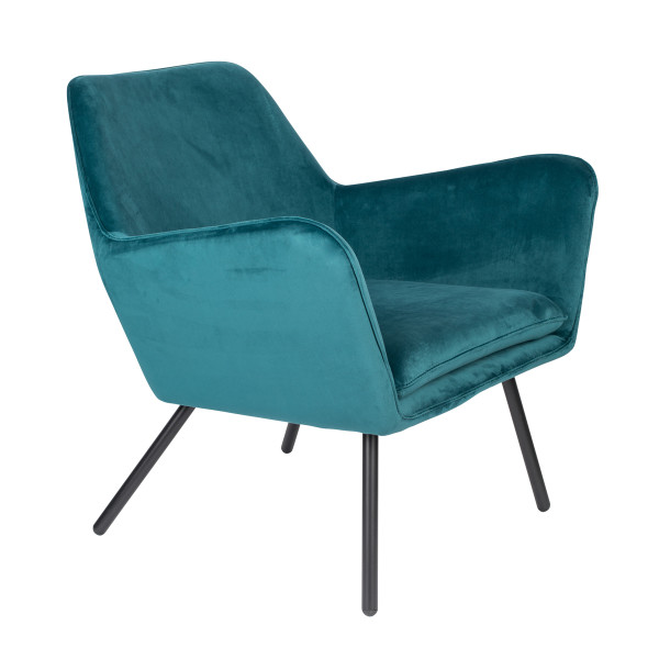 Fluwelen retro fauteuil