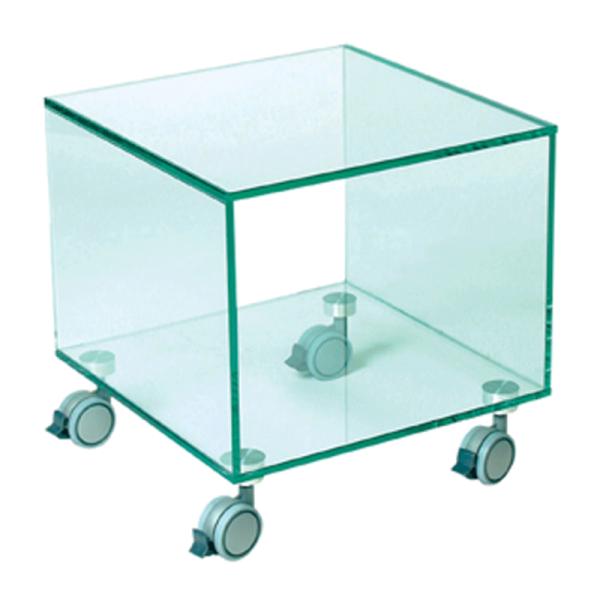 Glazen Bijzettafeltje Op Wieltjes.Glazen Bijzettafel Vetro K Bestellen Onlinedesignmeubel Nl