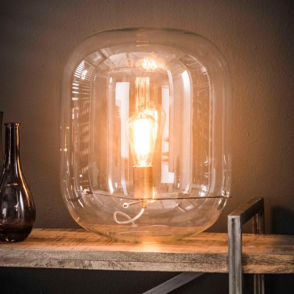Glazen stolp tafellamp