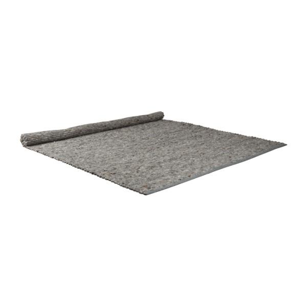 Grijs handgeweven tapijt
