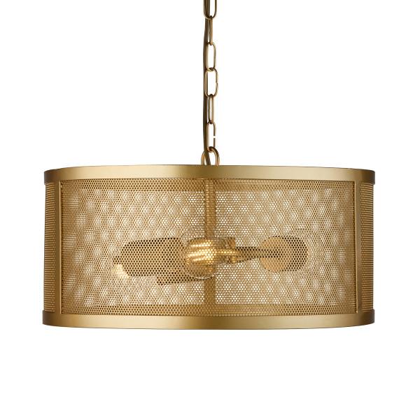 Hanglamp van goud metaal gaas