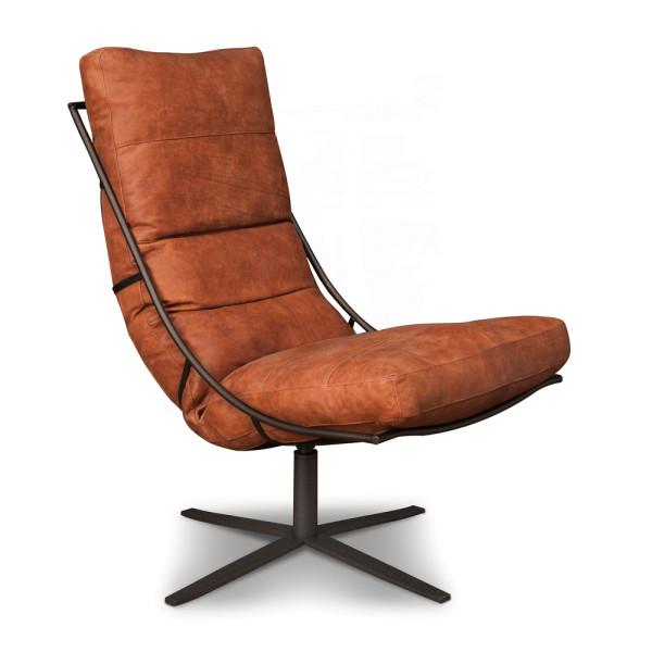 Lederen fauteuil industrieel samenstellen