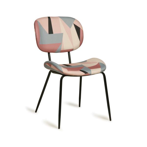 Retro design stoel kleurrijk