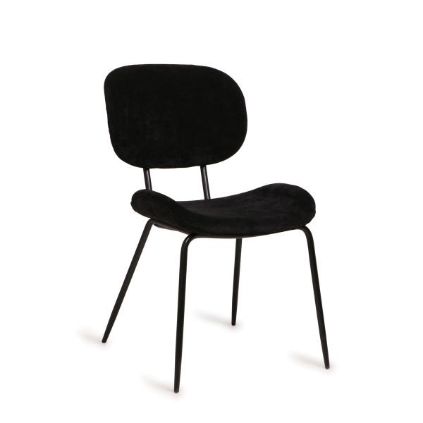 Retro design stoel met ribstof