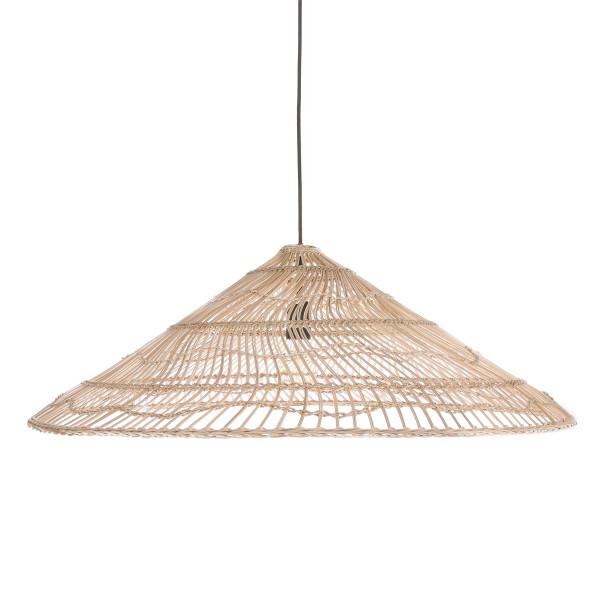 Rieten hanglamp driehoekig