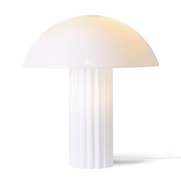 Witte tafellamp retro design