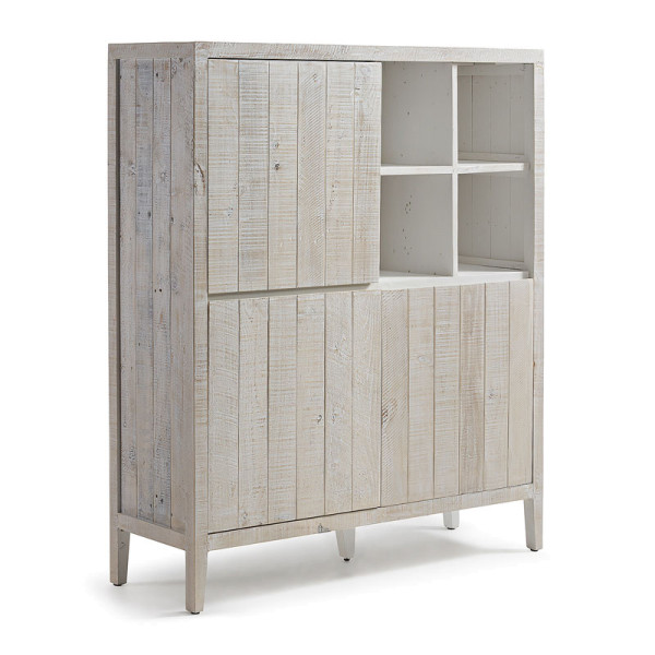 Houten kabinet 3-deurs