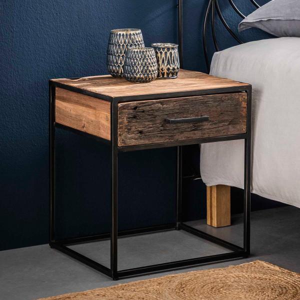 Uitgelezene Industrieel nachtkastje oud hout 1 lade | Giani Float | LUMZ VS-09