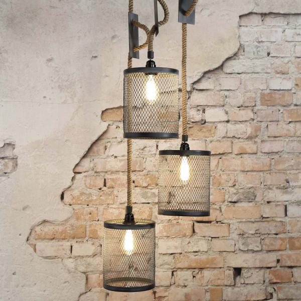 Industriële hanglamp betonlook
