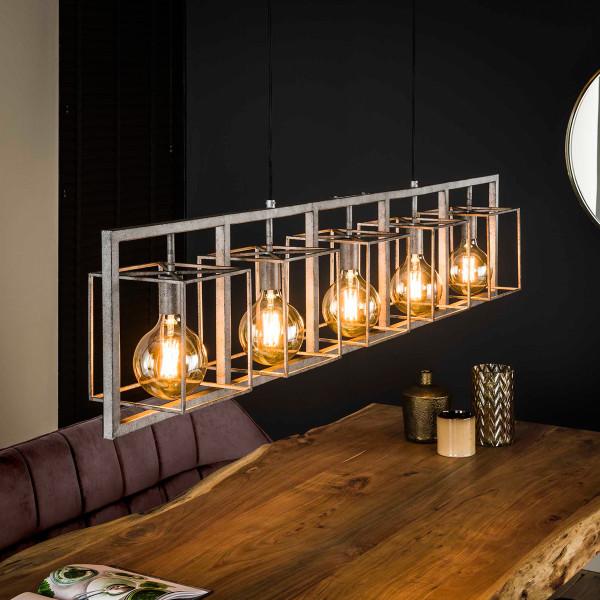 Industriele hanglamp oud zilver