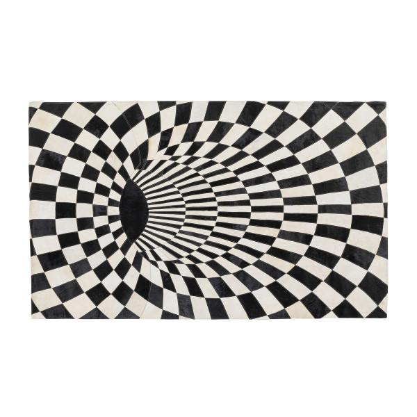 Vloerkleed 3D zwart-wit