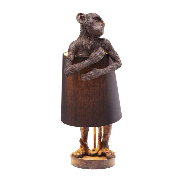 Lamp aapfiguur bruin zwart