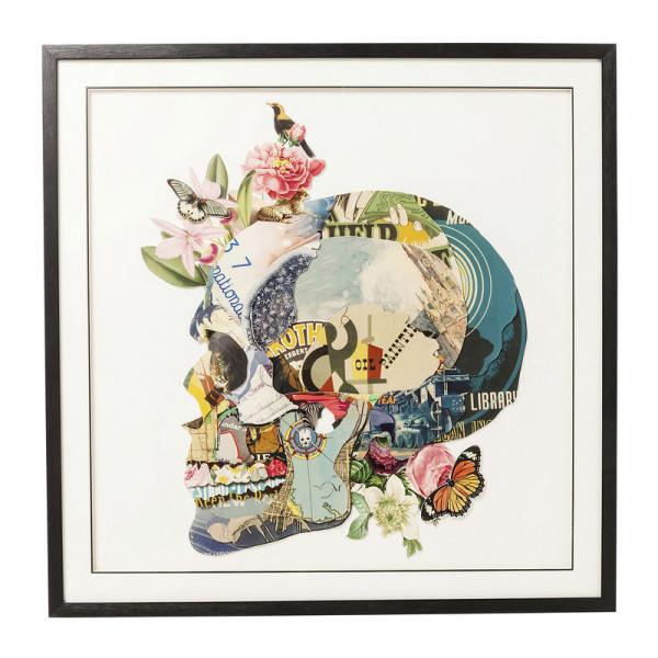 Afbeelding van kleurrijke schedel