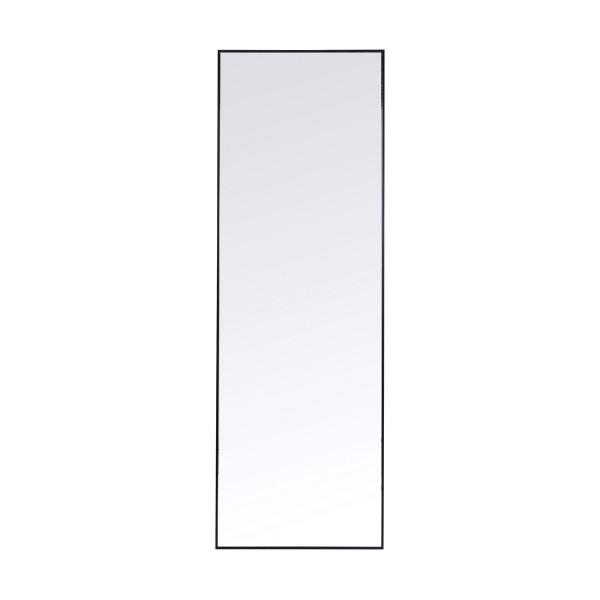 Smalle spiegel zwart 130x30 cm