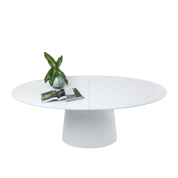 Witte verstelbare eettafel ovaal