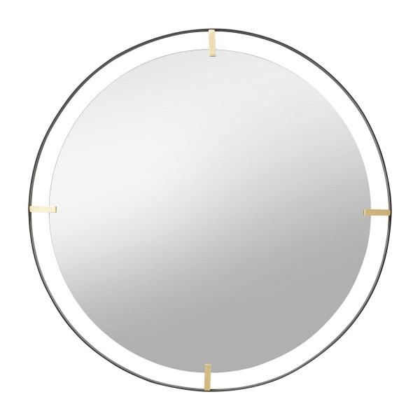 Ronde spiegel zwart goud 90 cm