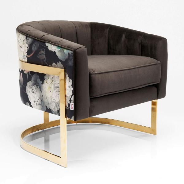 Design fauteuil goud frame