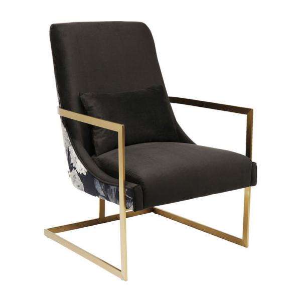 Moderne fauteuil bloempatroon