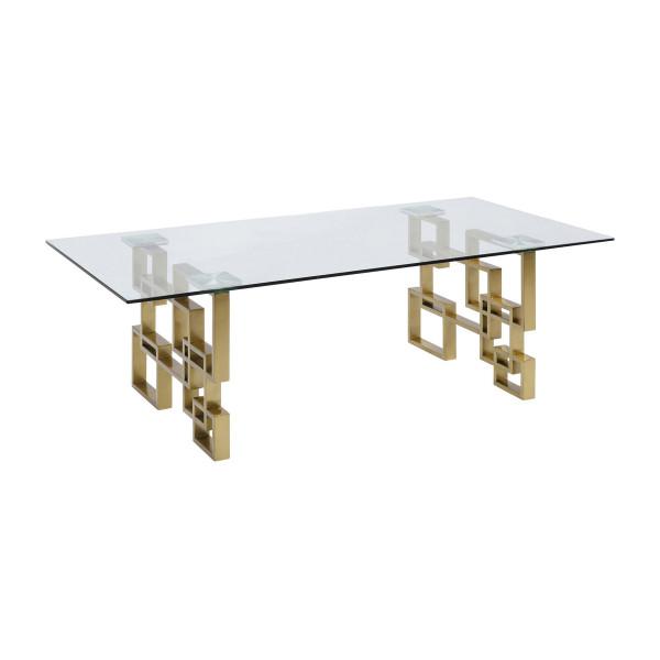 Glazen salontafel met goud