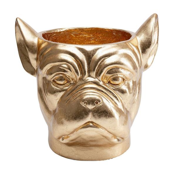 Bulldog plantenbak goud