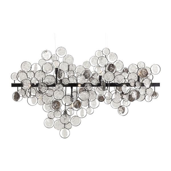 Hanglamp met bruincreme glas