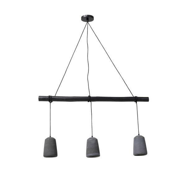 Hanglamp beton zwart hout