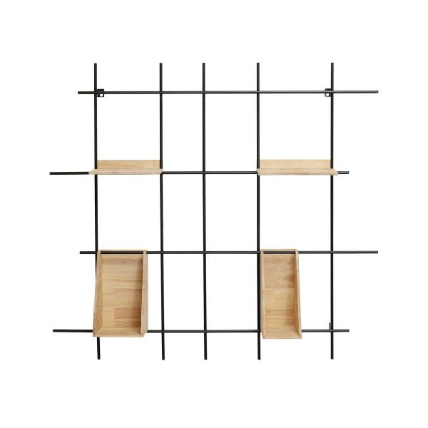 Wandrek hout en metaal