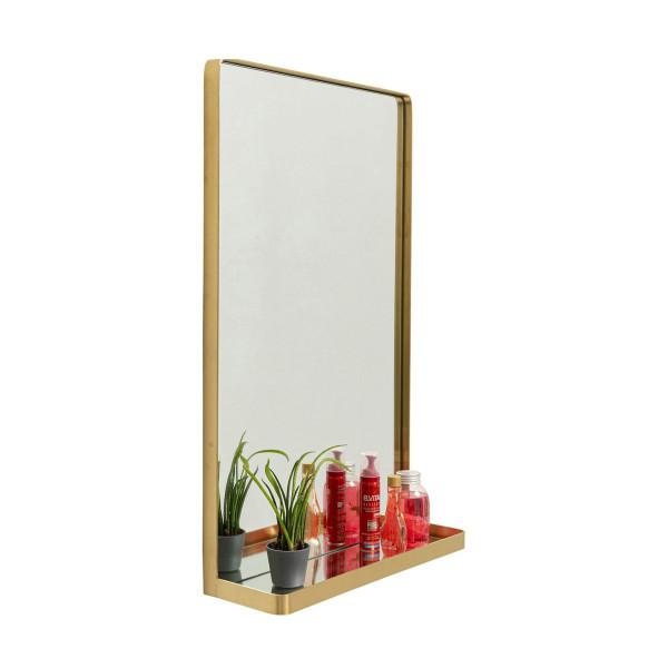 Messing spiegel met plankje