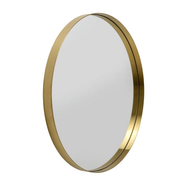 Ronde spiegel messing 80 cm