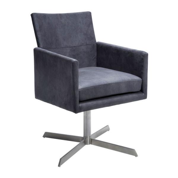 Vierkante grijze stoel