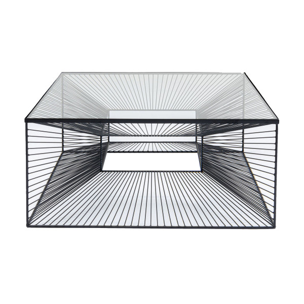 Vierkante salontafel staaldraad