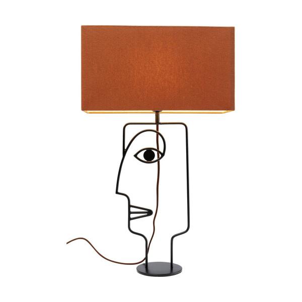 Tafellamp met gezicht