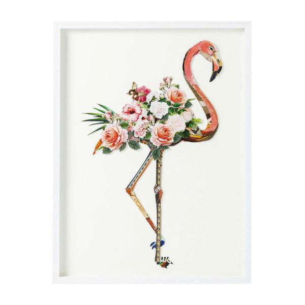 3D collage flamingo