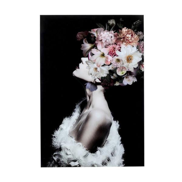 Glas schilderij bloemen portet