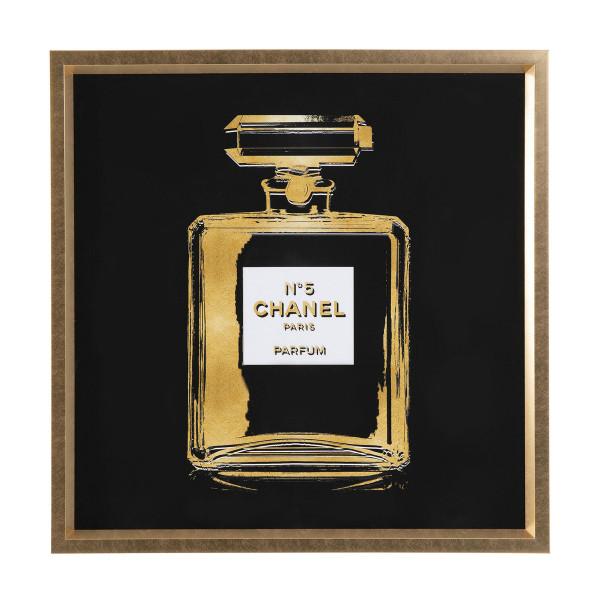 Vierkant schilderij Chanel No. 5