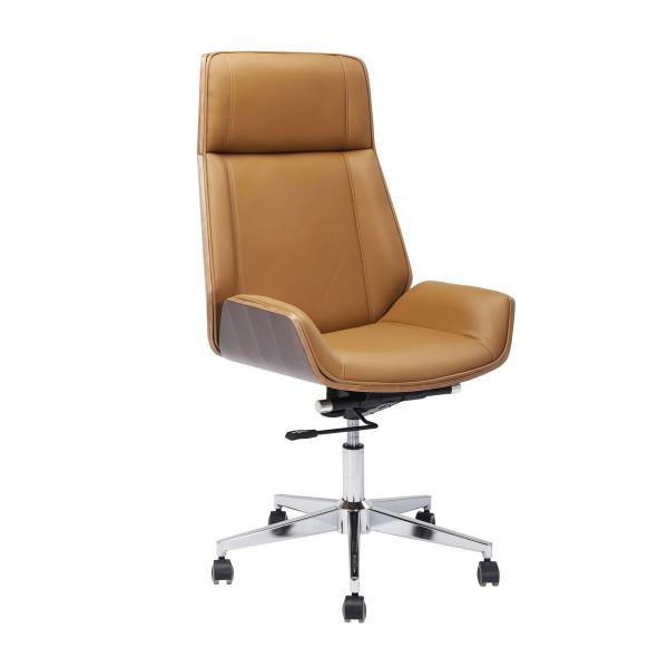 Design bureaustoel walnoot