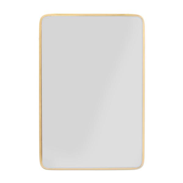 Rechthoekige spiegel goud