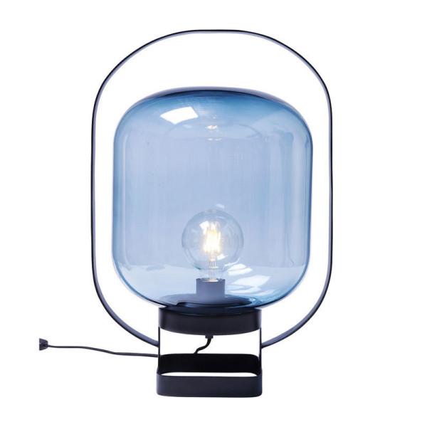 Blauwe glazen lamp