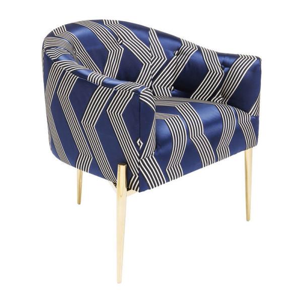 Authentieke fauteuil met driepoot
