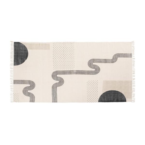 Licht tapijt met figuren