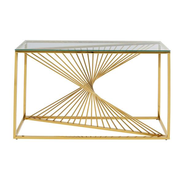 Design sidetable met glas