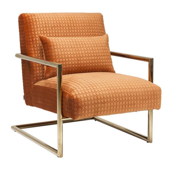 Oranje fauteuil met motief